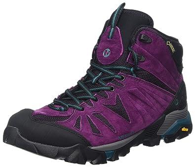 Merrell Damen Capra Mid Gore-Tex Trekking-& Wanderstiefel, Violett (Berry), 39 EU