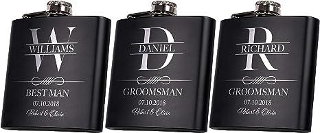 Flasks for Groomsmen Groomsmen Gift Engraved Flask Groomsmen Gift Set Groomsmen Proposal Groomsmen Flask Groomsmen Gift Groomsman Flask
