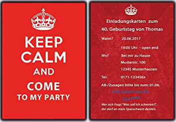 Keep calm birthday invitations invitations birthday party keep calm birthday invitations invitations birthday party invitations pack of 20 filmwisefo
