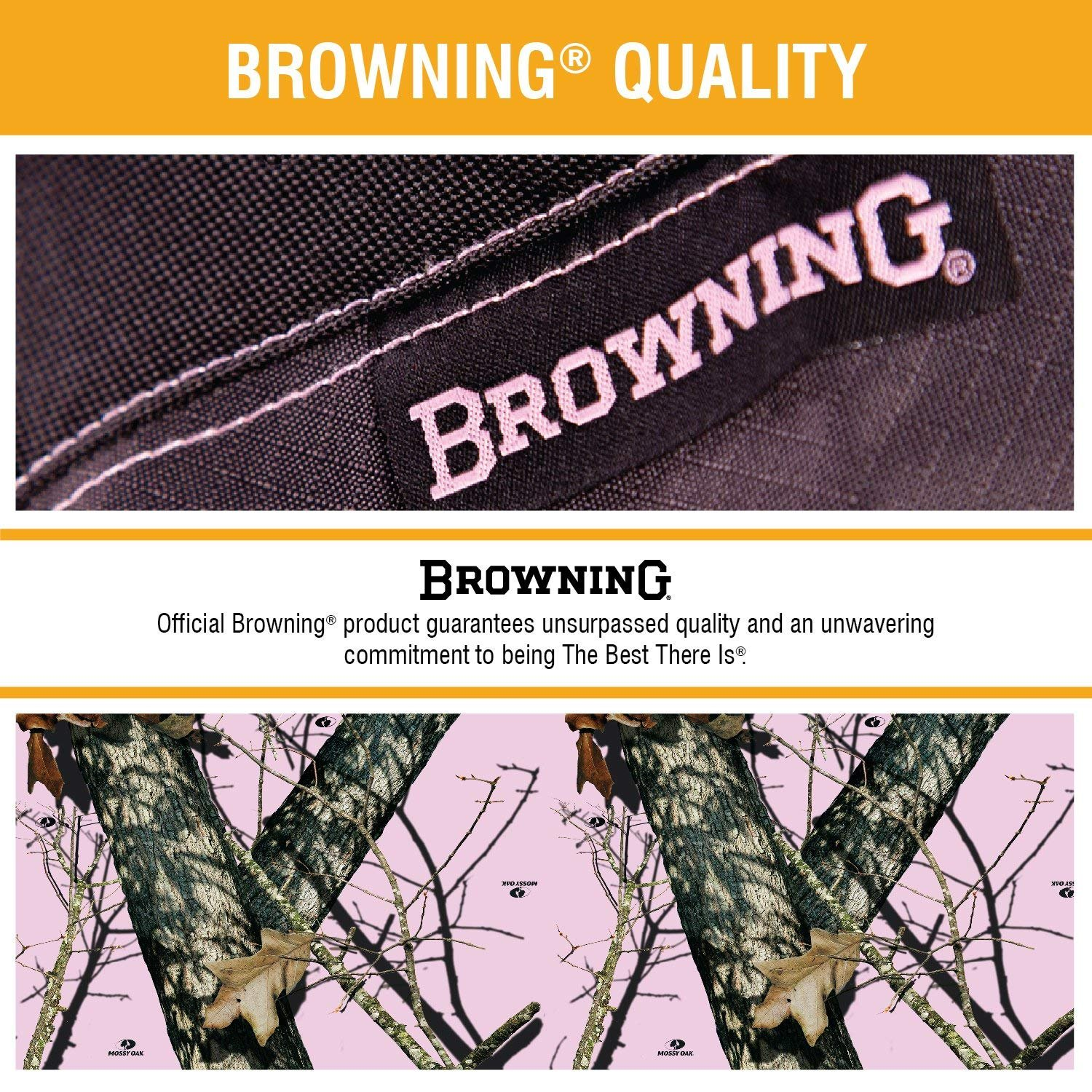 Browning Camo Low Back Seat Cover Mossy Oak Break-Up Pink
