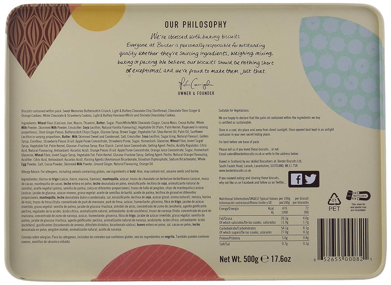 Border Biscuits, Surtido de Galletas Luxury Biscuit Collection Tin - 500 gr.: Amazon.es: Alimentación y bebidas