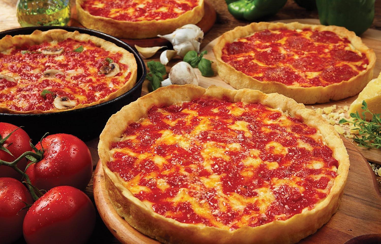 amazon com 4 lou malnati u0027s chicago style deep dish pizzas 2