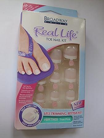 Broadway Nails Real Life Toe Nail Kit Fussnägel Zum
