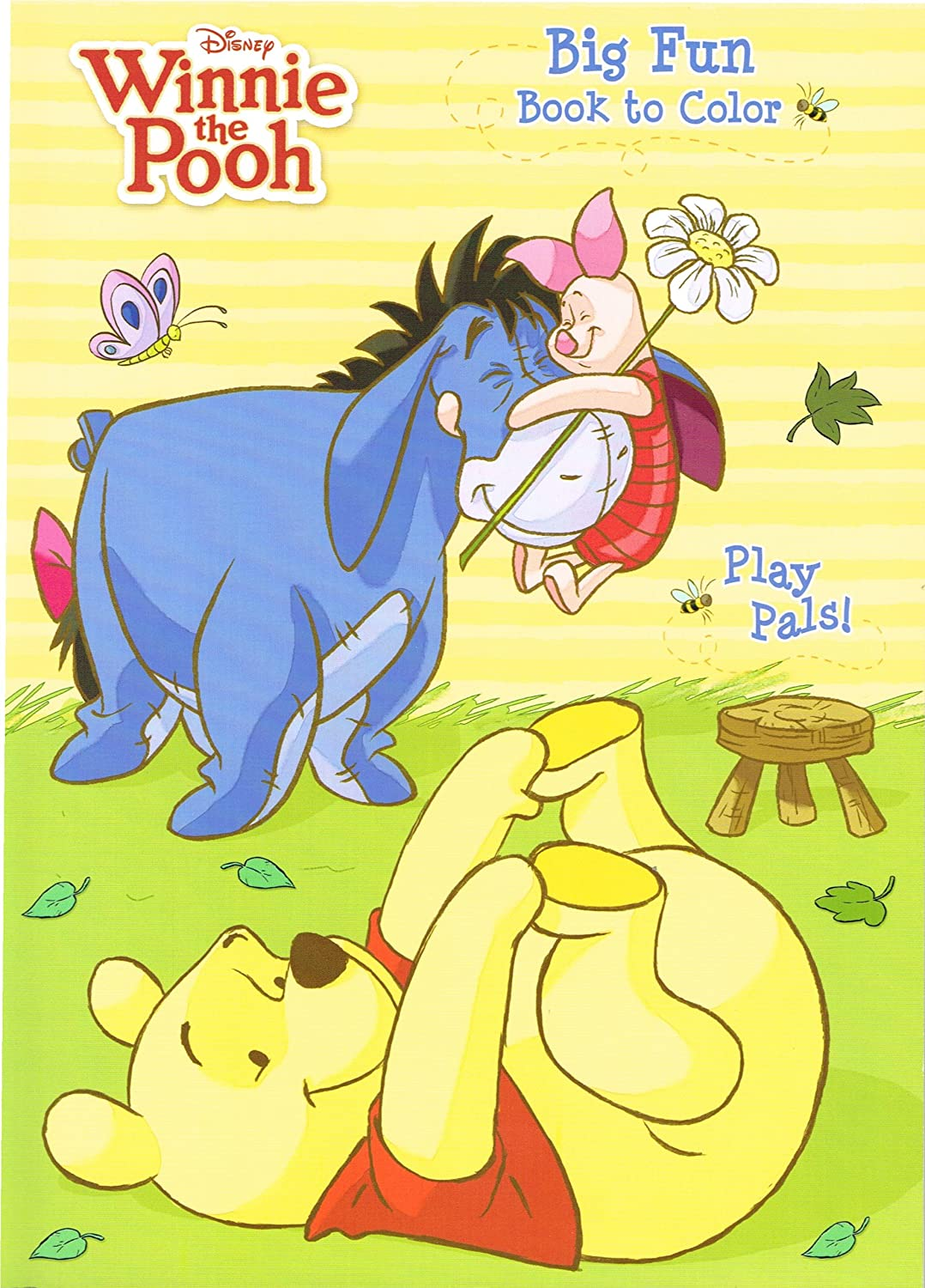 amazon com disney winnie the pooh big fun book to color set of