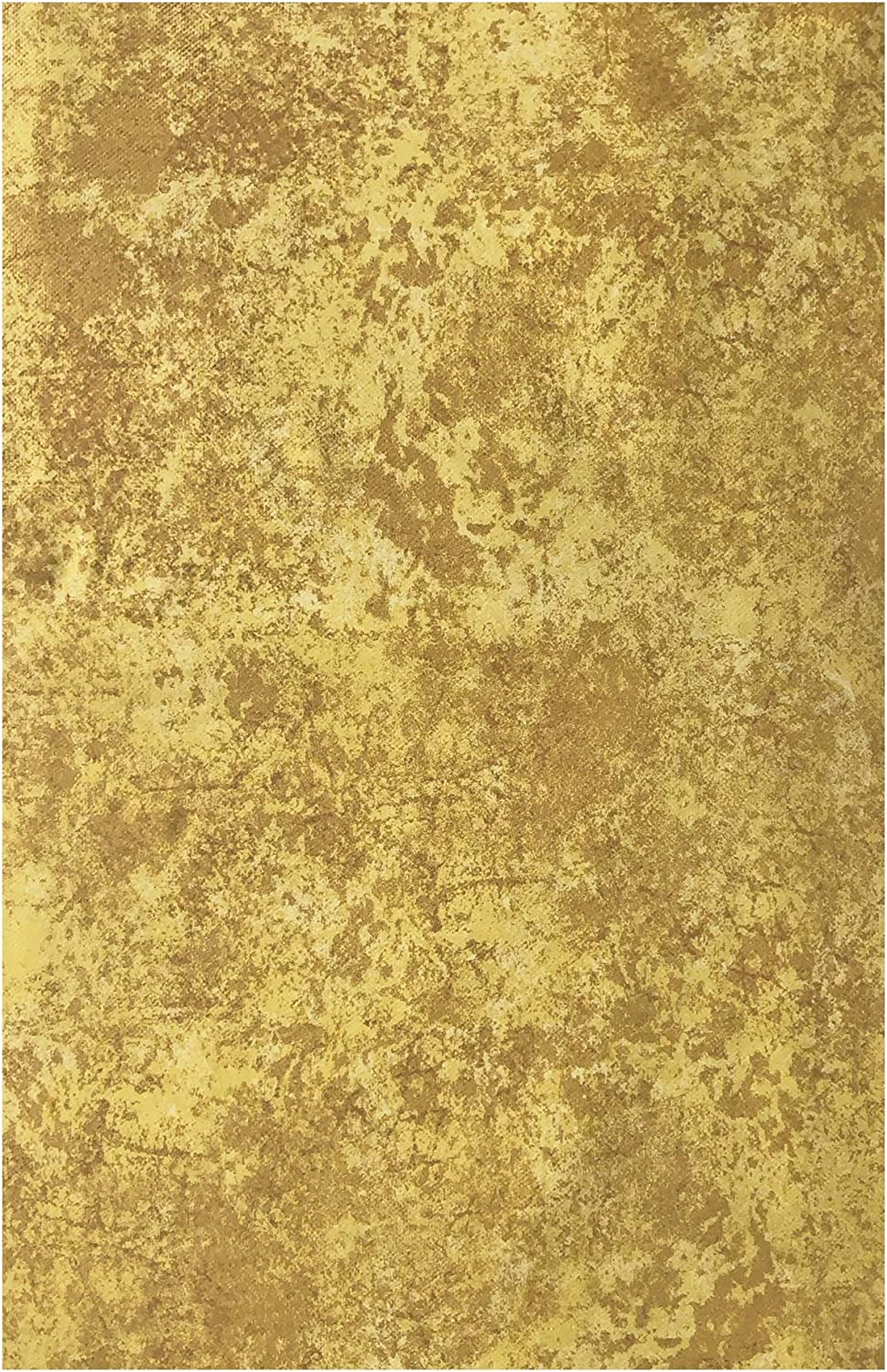 Gold Milano Marble Solid Color Print Heavy Gauge Vinyl Flannel Backed Tablecloth, Indoor/Outdoor Tablecloth for Picnic, Barbeque, Patio and Kitchen Dining, (60 Inch x 120 Inch Oblong/Rectangle)