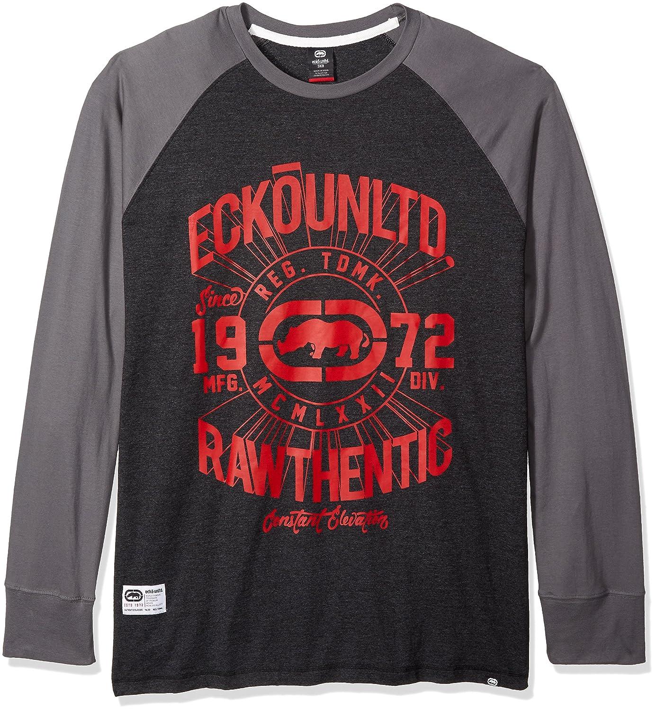 Ecko Unlimited Men's Big and Tall Elevation Long Sleeve Raglan