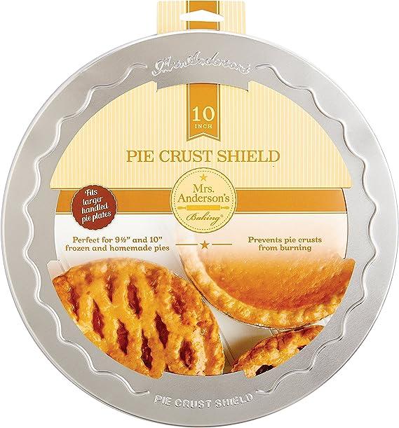 FDA Approved 2 Pack KUBIN Pie Crust Shield Adjustable Pie Protectors BPA free