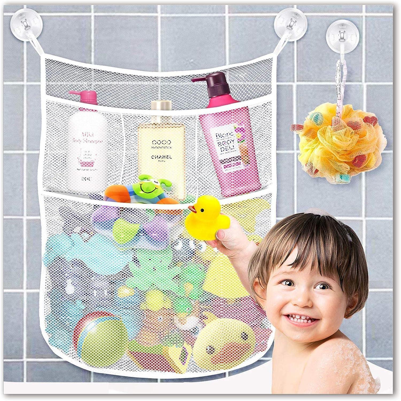 Kids Baby Bath Toy Tidy Organiser Mesh Net Storage Bag Holder Bathroom Suction