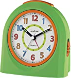 ATRIUM Wecker analog grün ohne Ticken, mit Licht und Snooze A921-3