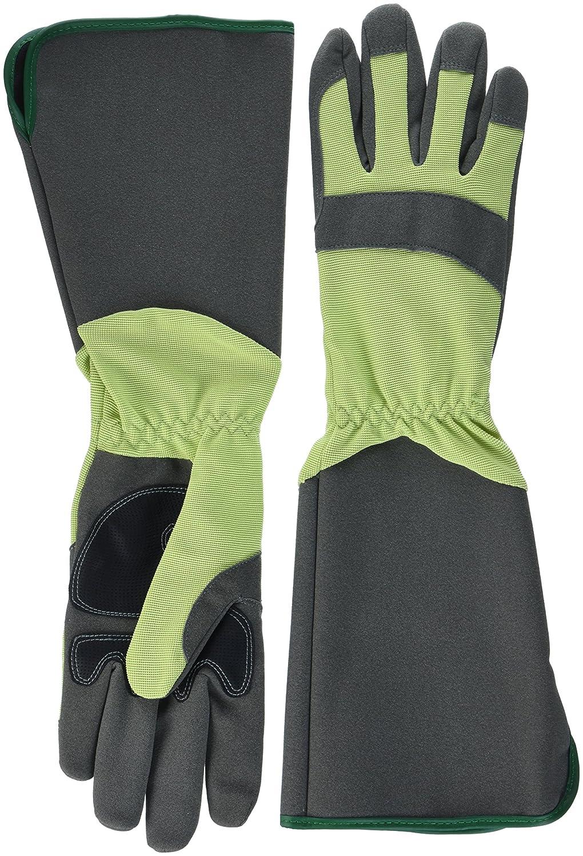 Green Gloves gar1911lg10ガーデニンググローブベリー、グリーン、グレー、10  B07DHWV27F