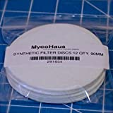 "12 synthetic filter discs 90mm ""Wide Mouth"" size"