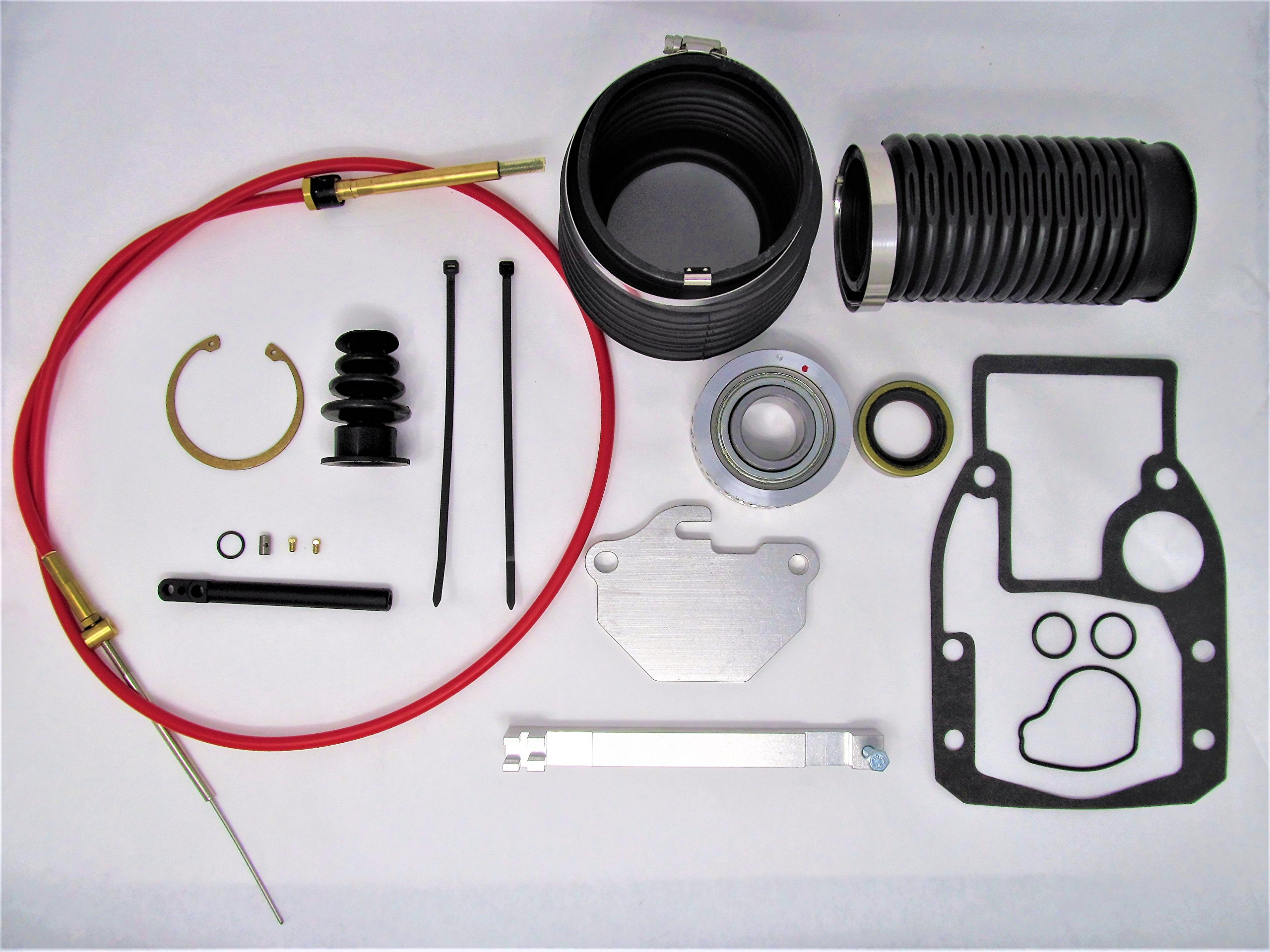 Marine Parts House OMC Cobra TRANSOM/SHIFTCABLE KIT W/Seal and SNAP Ring 3852548 18-2771 3854127 by Marine Parts House