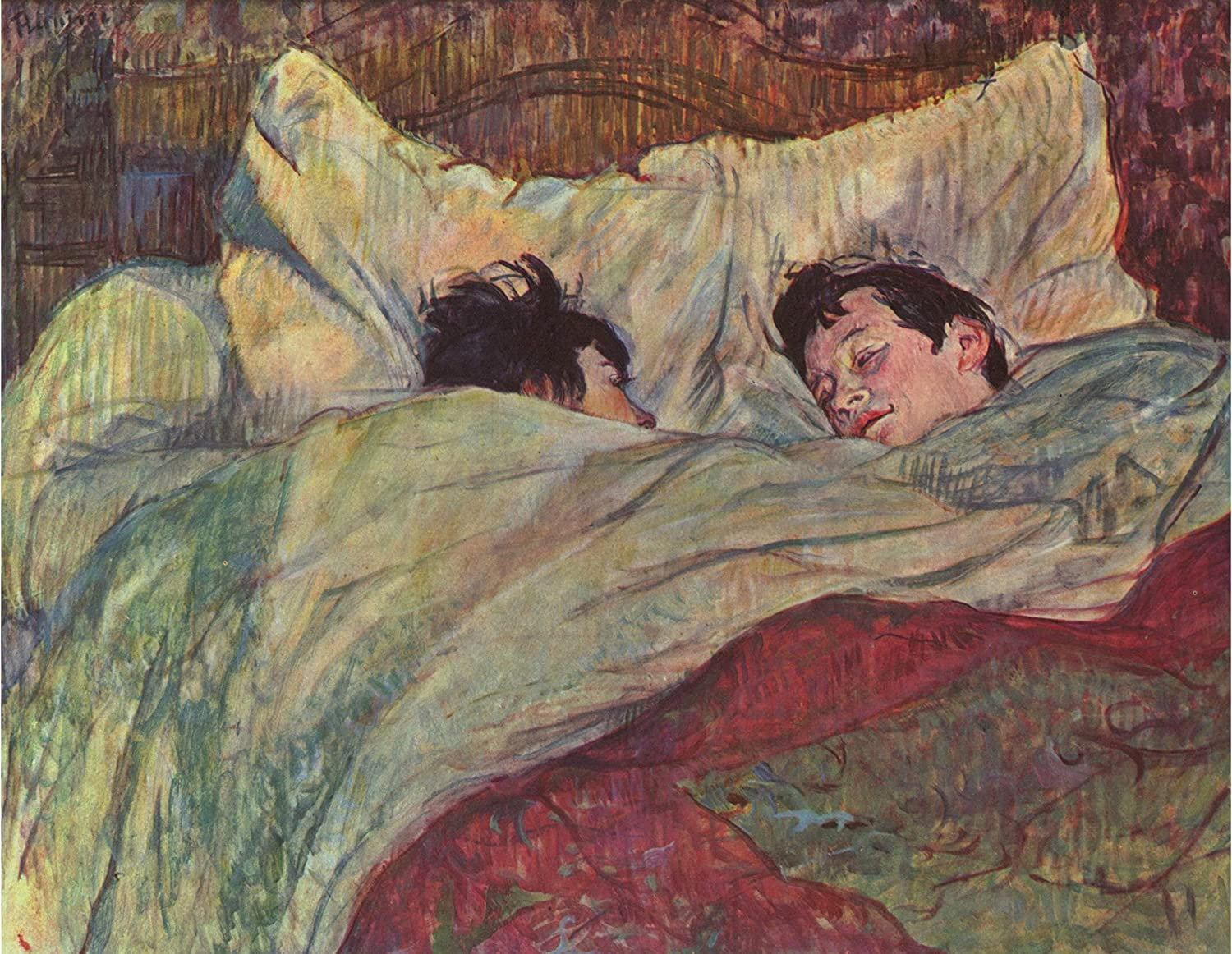 In Bed By Henri De Toulouse Lautrec Wall Art