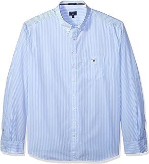 9e880386320 GANT Men's The Poplin Banker Stripe Long Sleeve Regular Fit Casual Shirt