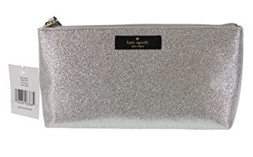 641618b4ce32 Amazon.com   Kate Spade New York Haven Lane Little Shiloh Cosmetics Make-Up  Travel Case (Silver)   Beauty
