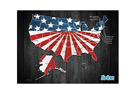 Travel Map of USA - Large & Personalized To Reveal Each Unique State on basketball usa map, state usa map, color usa map, driving usa map, art usa map, paint usa map, time usa map, list 50 states and capitals map, license plate world map, license plate map art, reverse usa map, license plates for each state, motorcycle usa map, flag usa map, decals usa map, golf usa map, baseball usa map, map usa map, leapfrog interactive united states map, watercolor usa map,