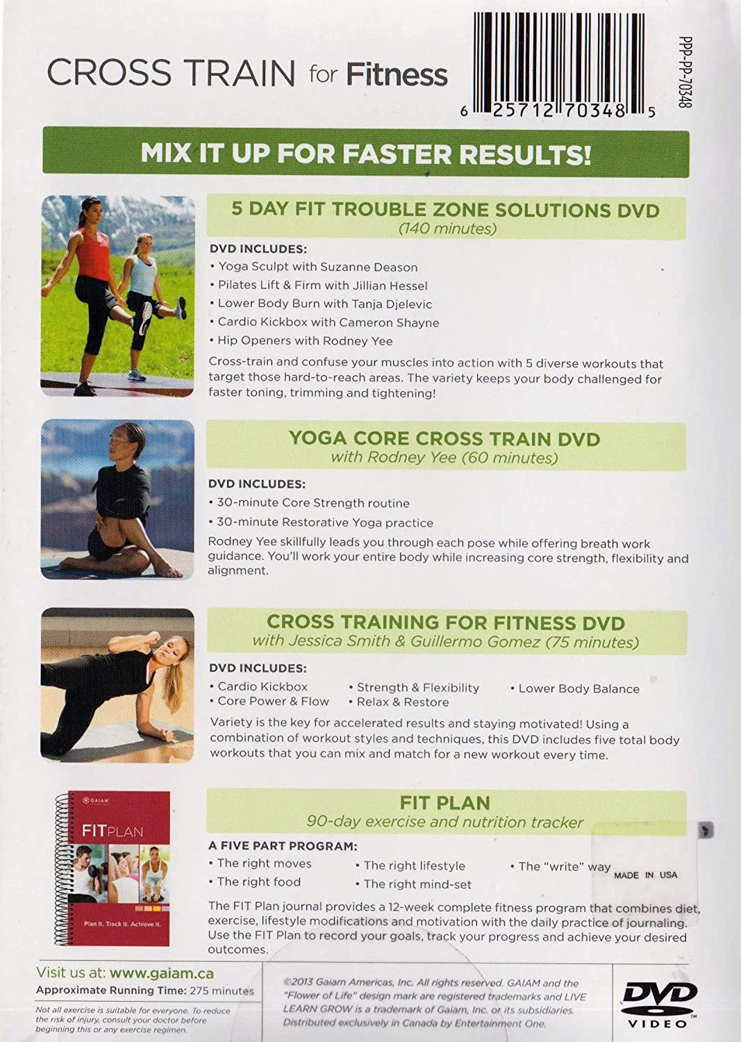 Amazon com: Cross train for Fitness (3 DVD Collection + Finess