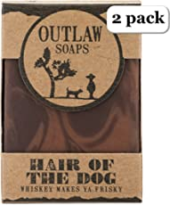 Hair of the Dog Whiskey Soap - 2 Pack - Smell like Fortune and Boldness - Like Whiskey, Tobacco, and Coffee Soap - Men's and Women's Bar Soap