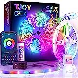 25ftBluetooth LED Strip Lights, Music Sync 5050 LEDLight StripRGB Color Changing LED Lights Strip with PhoneRemote, LED L