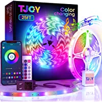 25ft Bluetooth LED Strip Lights, Music Sync 5050 LED Light Strip RGB Color Changing LED Lights Strip with Phone Remote…