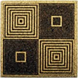 XL Coasters Art Deco Squares (6 Inch, Set of 2) Drink coasters that don't stick