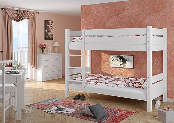 Etagenbett Liegefläche 80 180 : Erst holz etagenbett extra stabil weiß nische cm