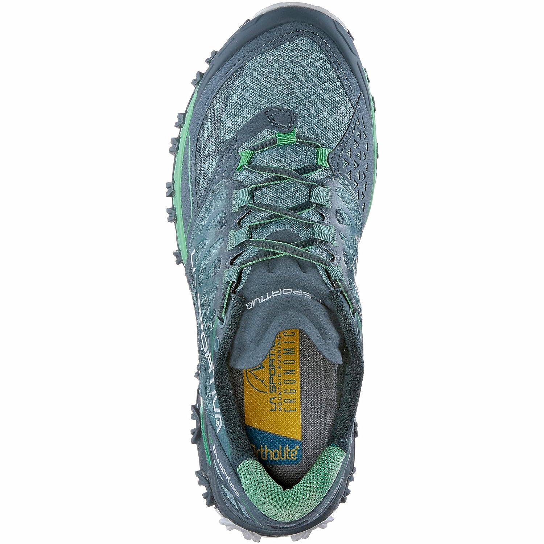 La Sportiva Bushido Woman, Scarpe da Trail Running Unisex – Adulto, Multicolore (Ardesia/Verde Giada 000), 38 EU