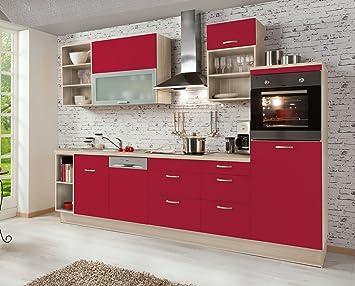 Amazonde Küchenzeile Rot Teresa Rechts 310cm Breit Inkl