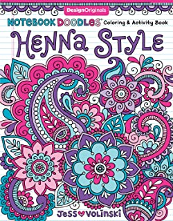 Notebook Doodles Henna Style Coloring Activity Book