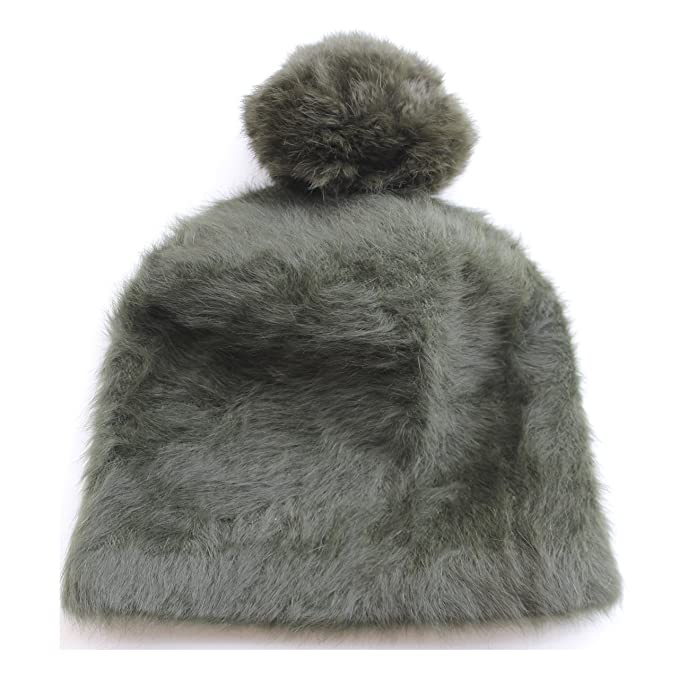 FERETI Berretto Donna Mohair Invernale Lana Coniglio Verde Pon pon Cappello  Cappelli Berretti  Amazon.it  Abbigliamento 2b0d21525753