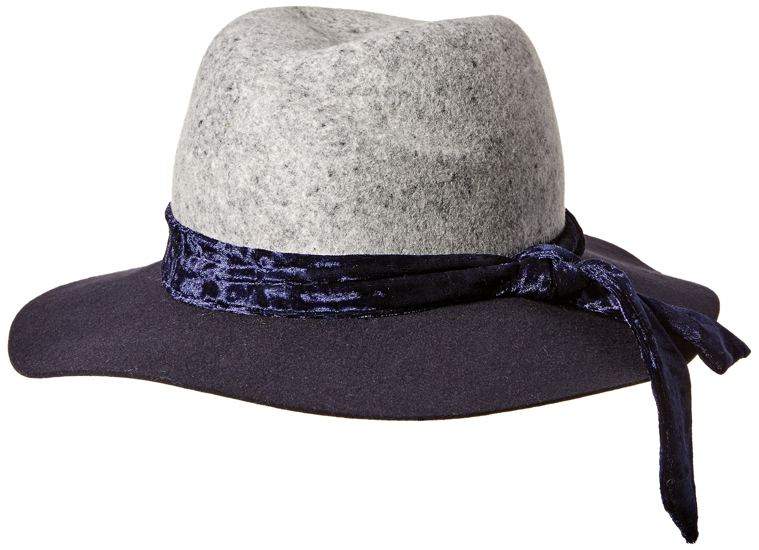 Orchid Row Women's Fashion Ranger Hat with Velvet Band Navy/Heather O/S