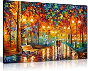 Rains Rustle II by Leonid Afremov Canvas Wall Art Picture Print for Home Decor (36x24)