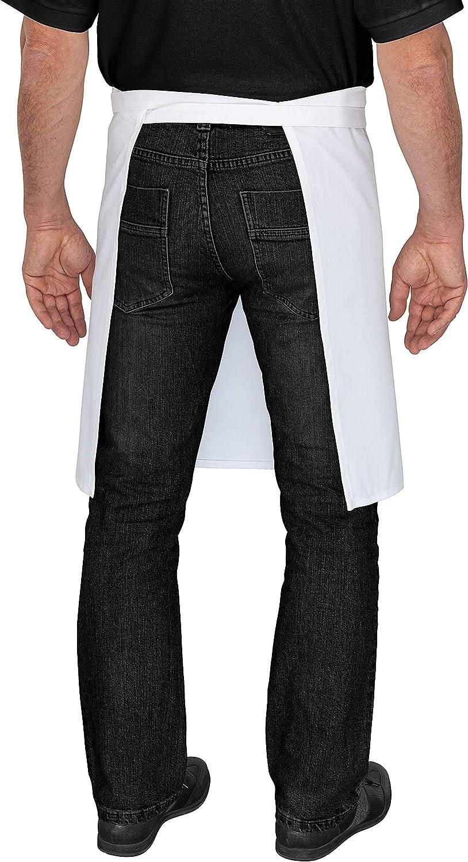DESERMO Tablier pour Plus de libert/é de Mouvement I Tablier de Cuisine 80 x 50 cm Blanc Coton 50 x 80 cm