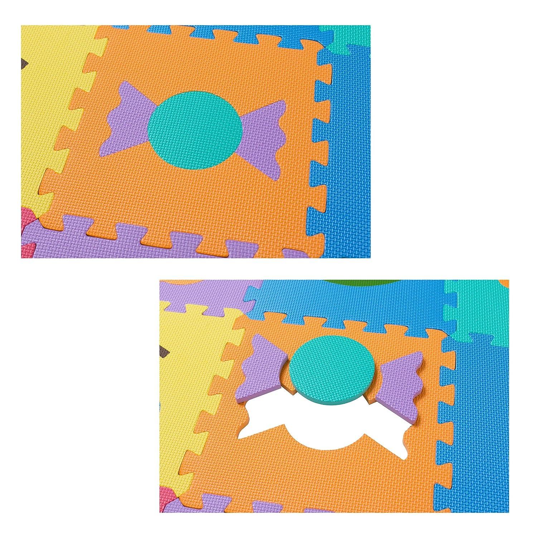 36 St/ück BodenMax Puzzlematte mit Buchstaben und Zahlen f/ür Babys und Kinder Spielmatte Krabbelmatte und Kinderspielteppich 30x30x1 cm