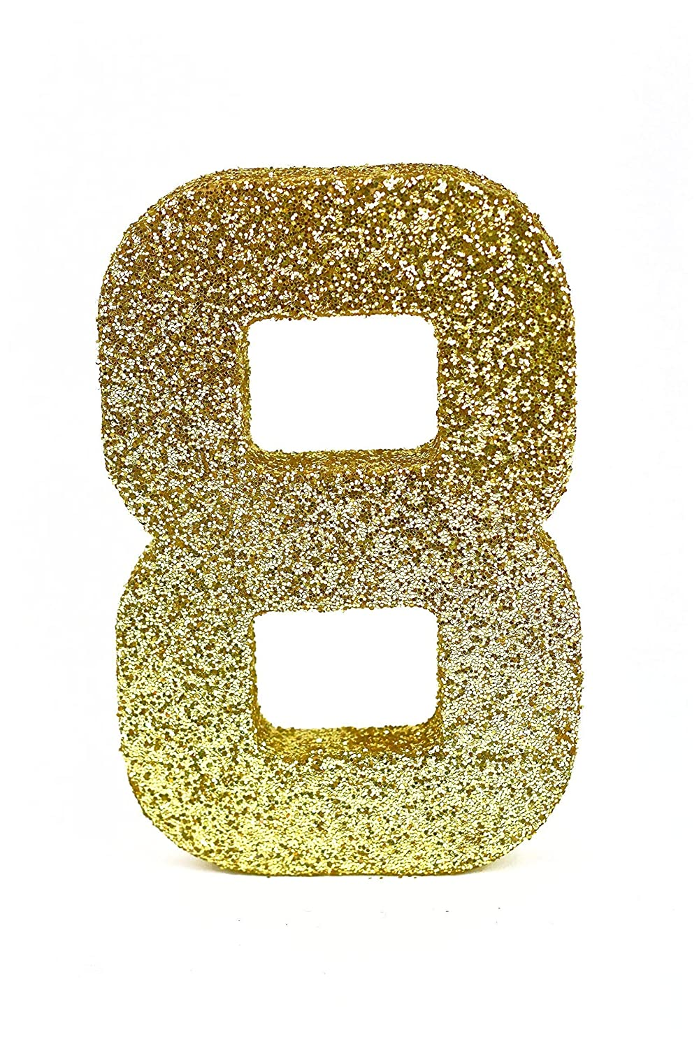 8 in Numbers photo prop-Gold Glitter Number 5-Numbers 8 inches-Birthday Photo Prop Decoration-Birthday Number-Glitter Number 1 Photo Prop