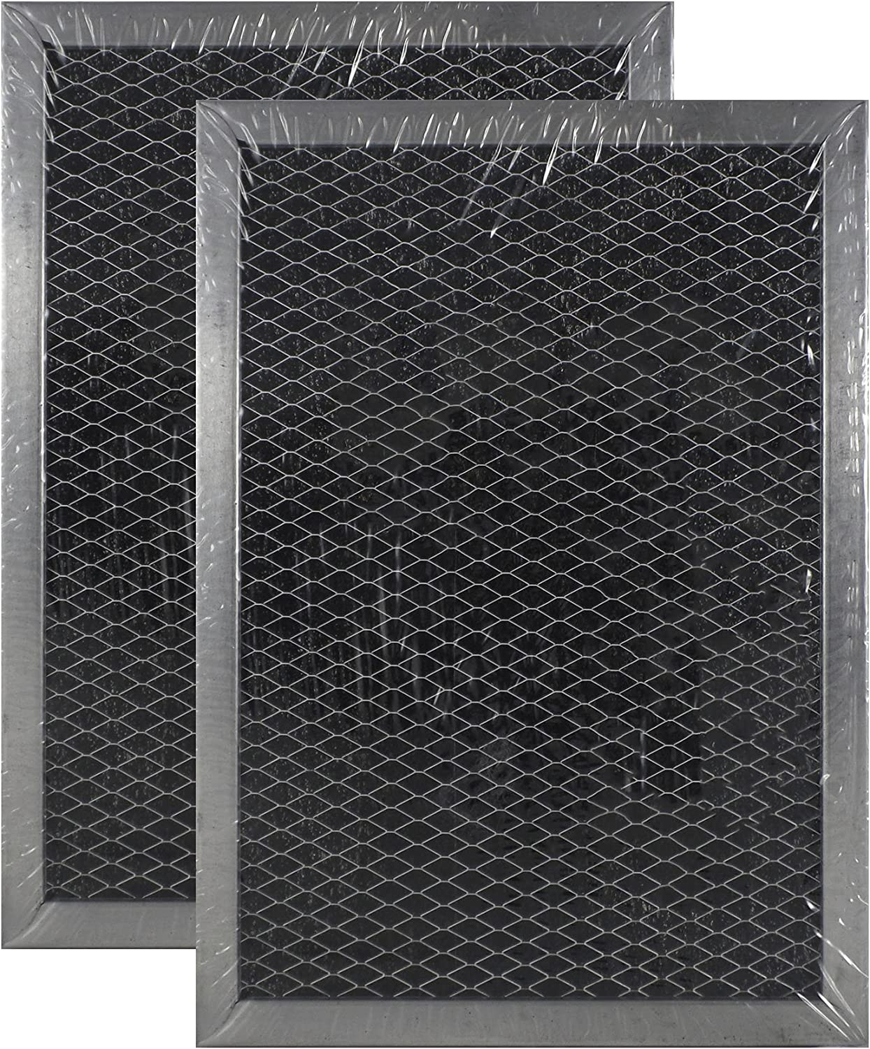 2 PACK Air Filter Factory Compatible Replacement For GE WB02X10733 JX81B Microwave Charcoal Carbon Filter