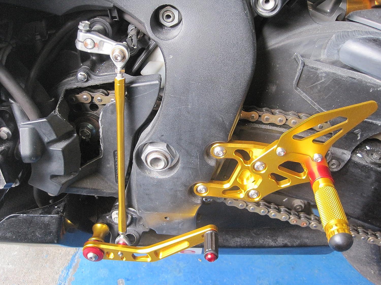 nero CBR1000RR Pedane Regolabili Poggiapiedi Rearsets per Honda CBR 1000RR 2008-2014