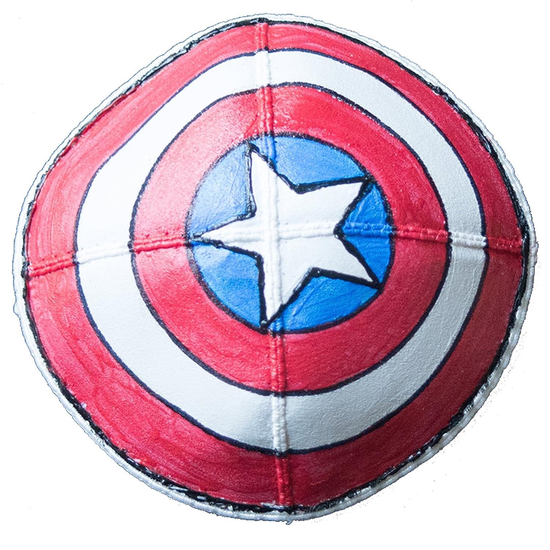 Hand-painted Kippah (Yarmulke) with Captain America