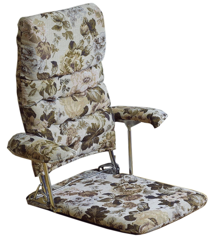 和風 肘付 座椅子 ベージュ PW-カレン B00UTEBQD2 ベージュ ベージュ