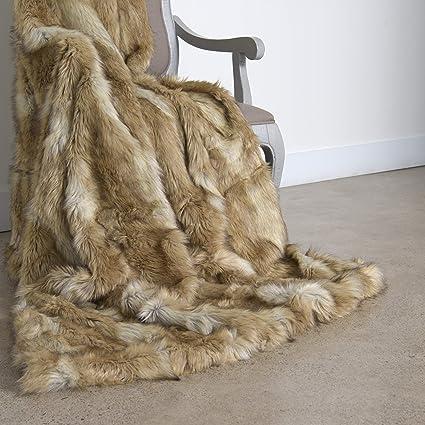 Amazon.com  Best Home Fashion Faux Fur Throw - Full Blanket ... b4079c625