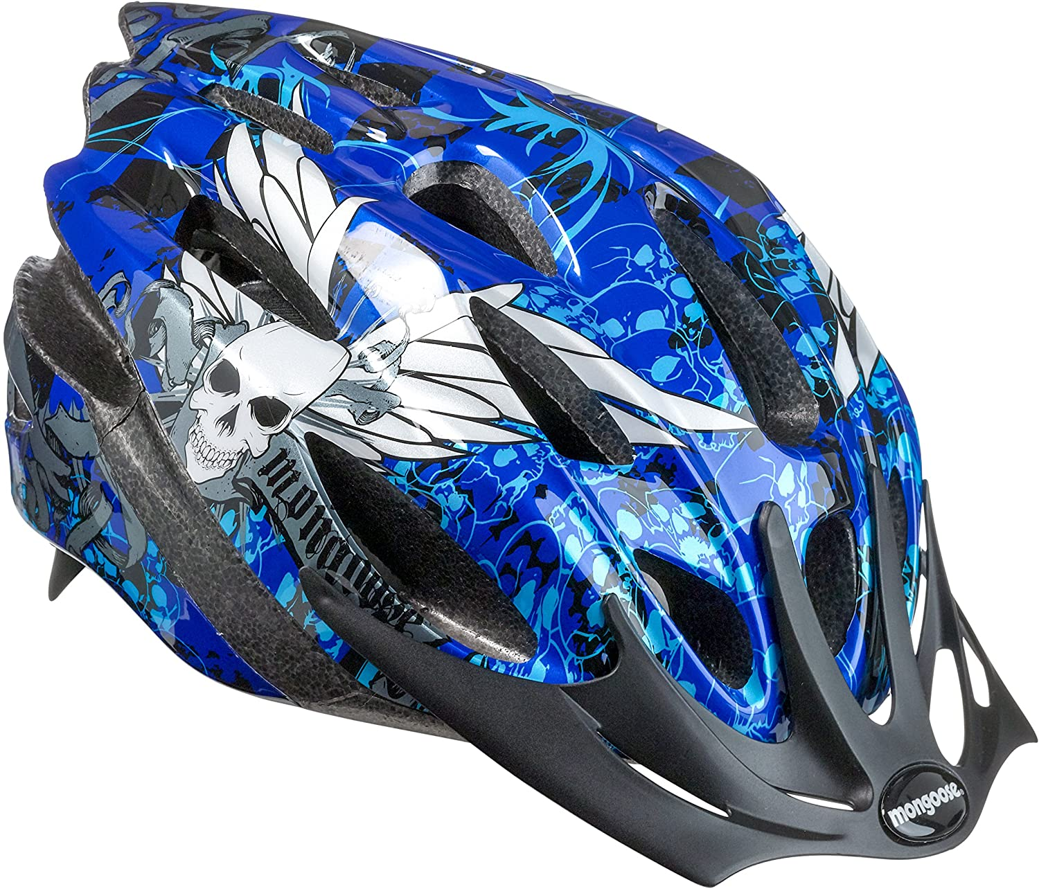 Mongoose Thrasher Youth Bike Helmet, Lightweight Microshell Design