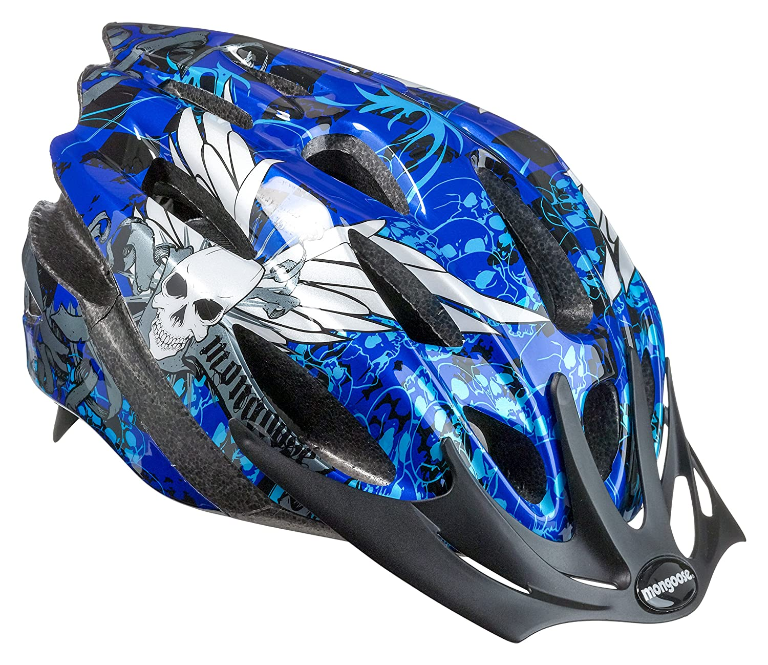 Mongoose Thrasher Lightweight Microshell Helmet Featuring Dial-Fit Adjustability, for Youth and Children