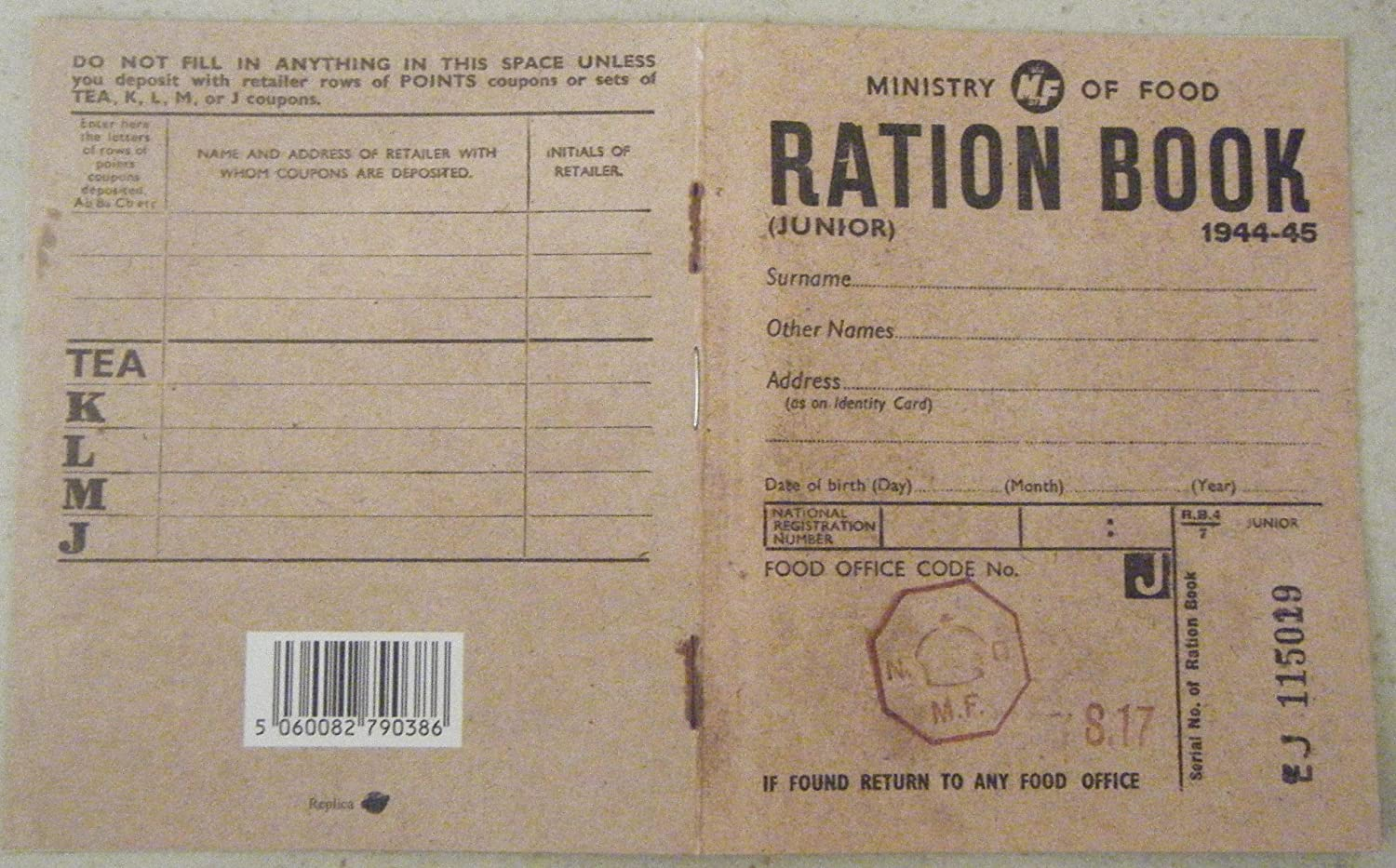 World War  Food Menu