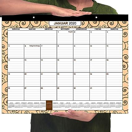 Calendario de Mesa 2019/2020 por Belle Vous   Planificador ...