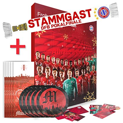 Fc Bayern Munchen Xxl Adventskalender Gefullt Mit Autogrammkarten Und 25 Mal Vollmilch Schokoladen Tafelchen