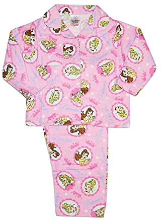 10bb08da44 Disney Princess Girls PJs Pyjamas Flannelette Winceyette 12-18 Months to  3-4 Years (18-24 Months)  Amazon.co.uk  Clothing