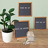 Gray Felt Letter Boards with Cursive Words by