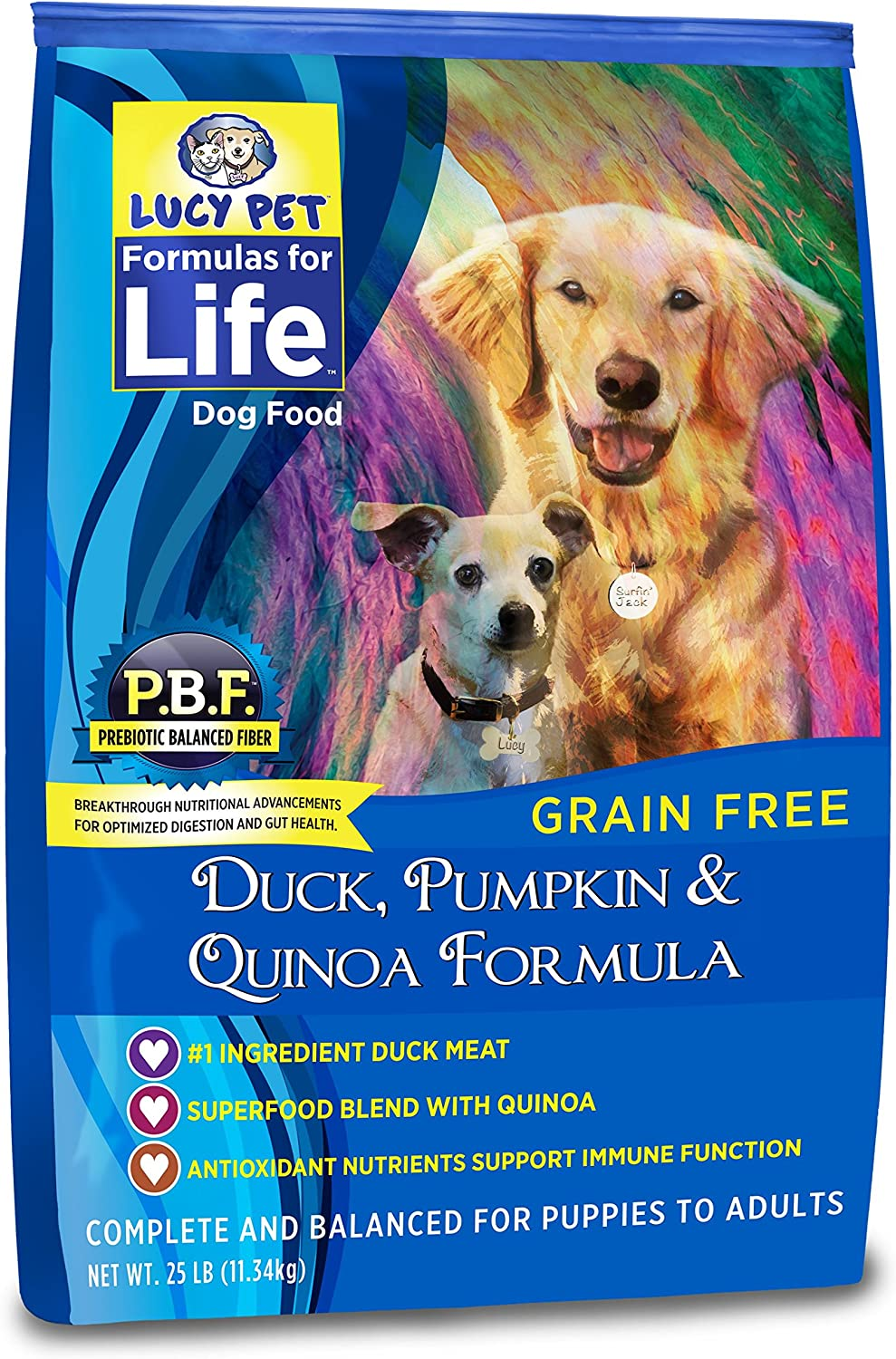 Lucy Pet Formulas for Life Gut Health Dry Dog Food Duck, Pumpkin Quinoa