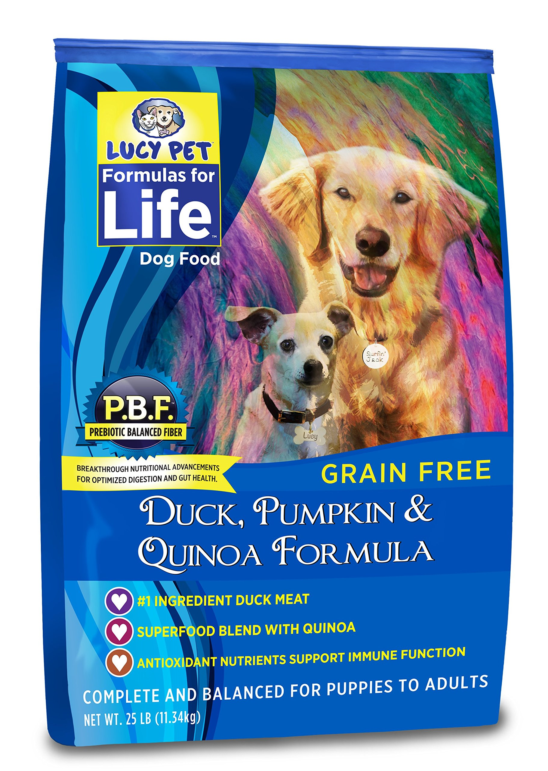 Lucy Pet Formulas for Life Gut Health Dry Dog Food Duck, Pumpkin & Quinoa, 25 lb by Lucy Pet Products