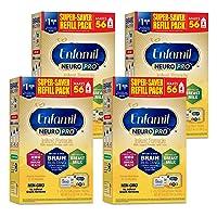 Enfamil NeuroPro Baby Formula Milk Powder Refill, 31.4 Ounce (Pack of 4) - MFGM,...